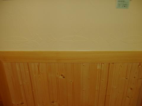 リビングRoomの壁のステンシルウォールアート